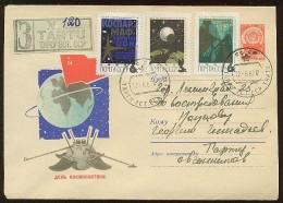 MAIL Post Stationery Cover Used USSR RUSSIA Space Rocket Sputnik  Set Stamp - 1923-1991 USSR