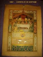 1887 - Certificat De Baptème - Inchy En Artois - - Religion & Esotericism