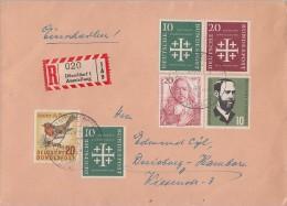 Bund R-Brief Mif Minr.2x 235,236,252,253,275 SST Düsseldorf Ausstellung - BRD