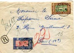 ST PIERRE ET MIQUELON LETTRE RECOMMANDEE   DEPART SAINT PIERRE ET MIQUELON 17-10-36 ARRIVEE PARIS 2-11-36 - Lettres & Documents