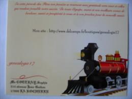 Train Locomotive Publicité Collectionneur - Chemins De Fer
