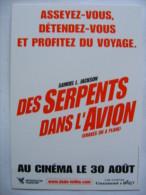 Film Des Serpents Dans L'avion Consignes De Sécurité - Affiches Sur Carte
