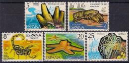 ESPAÑA Nº 2531/35 ** FAUNA INVERTEVADOS - 1971-80 Neufs