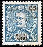 !■■■■■ds■■ L.Marques 1903 AF#72* Mouchon New Colors 65 Réis Mint (d0258) - Lourenco Marques