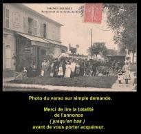 Cpa ANTONY, Croix De Berny, Restaurant ROUSSET, Belle Animation, Moto, Vélo, Vers 1907. Voir Description Bien Détaillée. - Antony