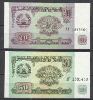 TADJIKISTAN .  LOT DE 2 BILLETS . - Tajikistan