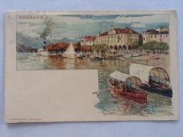 CARTOLINA -  PALLANZA   - BARCHE ALL'ORMEGGIO - VIAGGIATA NEL 1912 - Verbania