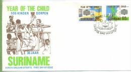 Suriname 3. Okt. 1979 SOS-Kinderdorf Um 1970/19800 Verlag: POSTKARTE Mit Frankatur, Mit Stempel, Suriname 3. Okt. 1979 E - Surinam