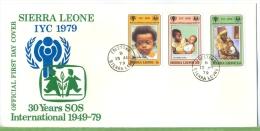 Sierra Leone 13. Aug. 1979 SOS-Kinderdorf Um 1970/19800 Verlag: POSTKARTE Mit Frankatur, Mit Stempel, Sierra Leone 13. A - Sierra Leone