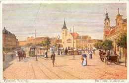 Pays Divers -ref A215- Slovaquie -illustrateur -pozsony , Vasarter - Fresburg , Marktplatz-  -carte  Bon Etat - - Slovaquie
