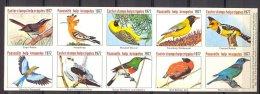 Naa1195 VIGNETTEN FAUNA VOGELS ROBIN KITE WEAVER ORIOLE HELP CRIPPLES BIRDS VÖGEL AVES OISEAUX SLOVENIA 1977 PF/MNH # - Fantasie Vignetten