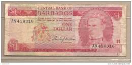 Barbados - Banconota Circolata Da 1 Dollaro - Barbades