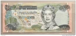 Bahamas - Banconota Non Circolata Da 1/2 Dollaro - 2001 - Bahamas