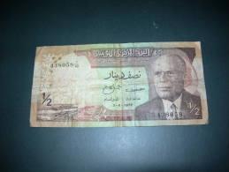 Tunisia   1/2  Dinar  1972. - Tunisia