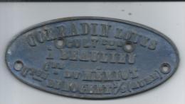 MERIOT - Plaque De Charette En Aluminium - Transports