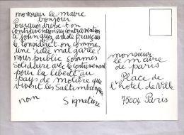 Carte Pétition Facsimile Contravention - Contre Les Contraventions Aux Saltimbanques Par La Mairie De Paris -1979 (?) - Postcards