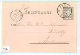 HANDGESCHREVEN BRIEFKAART Uit 1895 Van ZWOLLE Naar APELDOORN * NVPH Nr. 33 (7771) - Periode 1891-1948 (Wilhelmina)