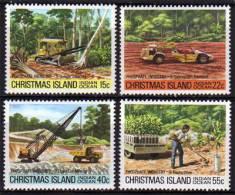 Ile Christmas. Phosphate .Eclaircissement De La Jungle, Mise A Ciel Ouvert,etc. De L´ile. 4 T-p Neufs ** - Christmas Island