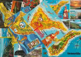 7 POSTCARDS - MAPS / CARTES 'TENERIFE'  - Espana/Spain - Postkaarten