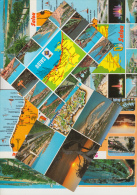 6 POSTCARDS - MAPS / CARTES ´SALOU´ Multiviews -Tarrogona, Costa Dorada - Espana/Spain - Postkaarten