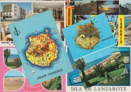 7 POSTCARDS - MAPS / CARTES ´ISLAS CANARIAS / GRAN CANARIA'  - Espana/Spain - Postkaarten