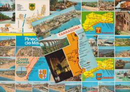 5 POSTCARDS - MAPS / CARTES  ´Costa Dorada´  Multiviews  - Espana/Spain - Postkaarten