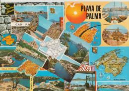 10 POSTCARDS - MAPS / CARTES  ´MALLORCA´  Multiviews  - Espana/Spain -1 - Postkaarten