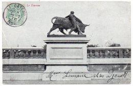 CC, 59, LE CATEAU, Le Taureau, Dos Simple, Voyagé En 1906, Ed : J.F. - Le Cateau
