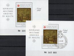 Christmas SMOM 1982 Gemälde Malteser Orden Natal Block 16 **/ O 13€ Bf Church M/s Painting Bloc Art Sheet Ordre De Malte - Malte (Ordre De)