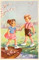 Cpa.  Enfants Signe J. Lagarde Old  Postcard  Cpa. - Autres Illustrateurs