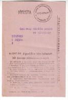 Hungarian Radio Subscription Invoice 1947 Abonnement De Radio Hongroise - Rechnungen