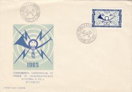 COMMUNICATIONS, COVER FDC, 1969, ROMANIA - Telecom