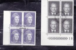 1971  N° 467 à 468  BLOCS DE 4  OBLITERES                    CATALOGUE ZUMSTEIN - Liechtenstein