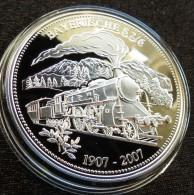 Palau 5 $ 2007 Locomotive Railways  Silver Proof - Palau