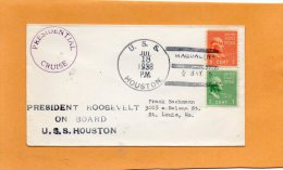 USS Houston Presidential Cruise 1938 Cover - Barcos
