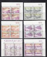 1972/73  N° 511 à 525  BLOCS DE 4  OBLITERES                    CATALOGUE ZUMSTEIN - Liechtenstein