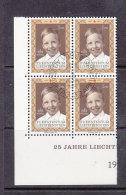 1970  N° 460  BLOC DE 4  OBLITERES                    CATALOGUE ZUMSTEIN - Liechtenstein