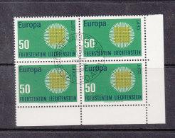 1970  N° 461  BLOC DE 4  OBLITERES                    CATALOGUE ZUMSTEIN - Liechtenstein