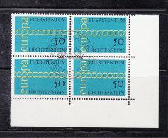 1971  N° 481  BLOC DE 4  OBLITERES                    CATALOGUE ZUMSTEIN - Liechtenstein