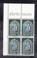 1971  N° 491  BLOC DE 4  OBLITERES                    CATALOGUE ZUMSTEIN - Liechtenstein