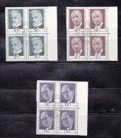 1972  N° 504 à 506  BLOCS DE 4  OBLITERES                    CATALOGUE ZUMSTEIN - Liechtenstein