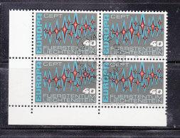 1972  N° 492   BLOC DE 4  OBLITERES                    CATALOGUE ZUMSTEIN - Liechtenstein