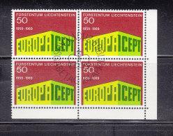 1969  N° 442    BLOC DE 4  OBLITERES                    CATALOGUE ZUMSTEIN - Liechtenstein