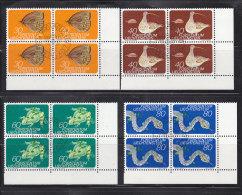 1973  N° 531 à 534    BLOCS DE 4  OBLITERES                    CATALOGUE ZUMSTEIN - Liechtenstein