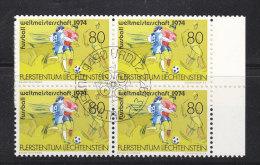 1974  N° 545   BLOCSDE 4  OBLITERES                    CATALOGUE ZUMSTEIN - Liechtenstein