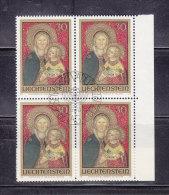 1973  N° 535    BLOC  DE 4  OBLITERES                    CATALOGUE ZUMSTEIN - Liechtenstein