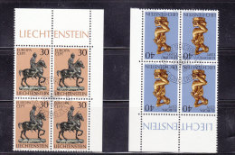 1974  N° 543 à 544    BLOCS  DE 4  OBLITERES                    CATALOGUE ZUMSTEIN - Liechtenstein