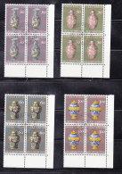 1974  N° 539 à 542    BLOCS  DE 4  OBLITERES                    CATALOGUE ZUMSTEIN - Liechtenstein