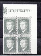 1974  N° 536    BLOC  DE 4  OBLITERES                    CATALOGUE ZUMSTEIN - Liechtenstein
