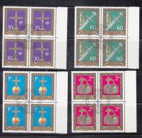 1975  N° 562 à 565    BLOCS  DE 4  OBLITERES                    CATALOGUE ZUMSTEIN - Liechtenstein